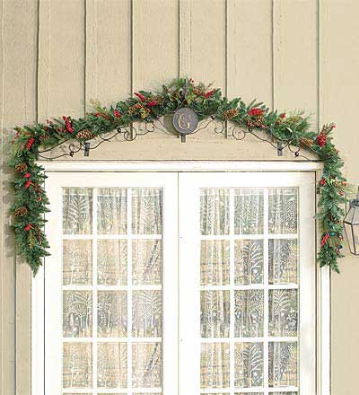 porch decorations - outdoor garland
