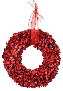 porch decorations - hydrangea wreath
