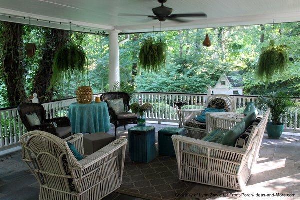 Beautiful balustrades on Lynn's porch