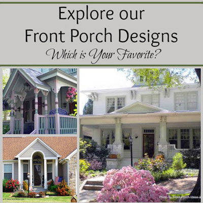 collage of front porch designs