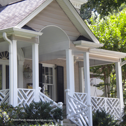 wonderfully designed front porch