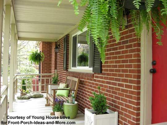 Ferns dress up the porch