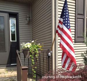 innovative bracket with American Flag