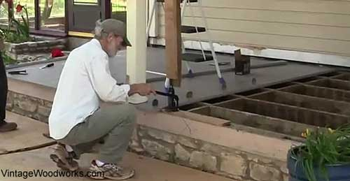 how to install a porch floor