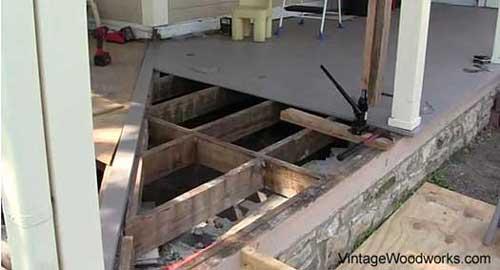 porch flooring installation