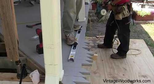 install the porch flooring