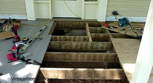 finish the porch floor