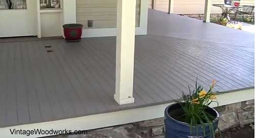 traditional front porch decking perpendicular to house