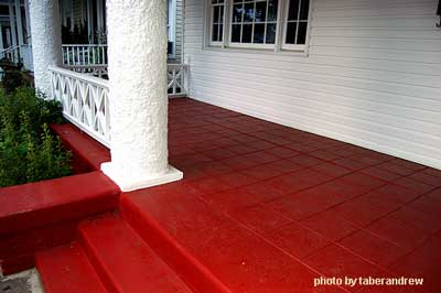 Painted concrete steps