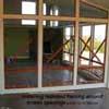 Screen porch framing