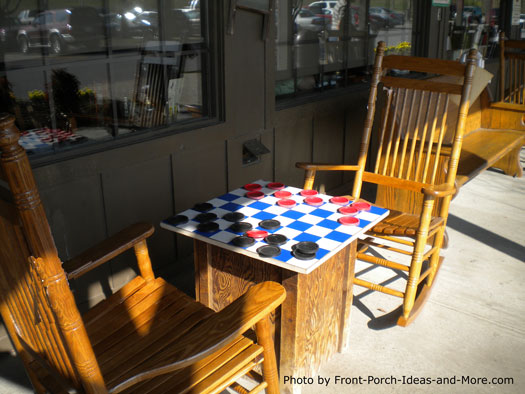porch games - checkers