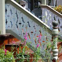 vintage front porch railings