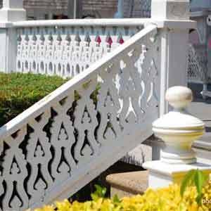 decorative porch stair hand rails