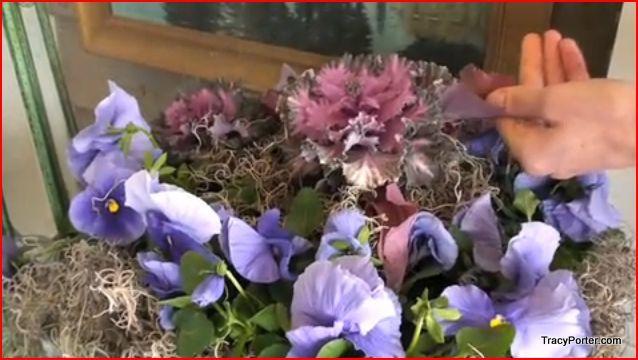 silk purple flowers