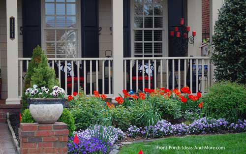 Front porch appeal newsletter april 2012 online magazine for Colorful front yard landscaping