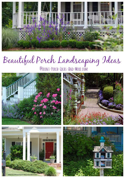 Porch landscaping collage