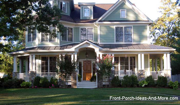 classic wrap around country style front porch