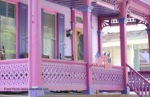 bright pink porch