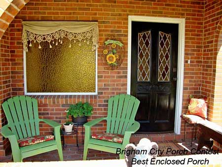 Brigham City Utah Porch Contest Best Enclosed Porch