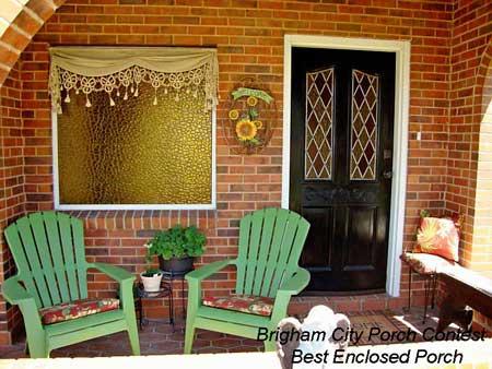 Brigham City Utah Porch Contest Best Enclosed Porch