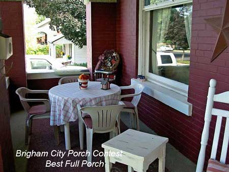 Brigham City Utah Porch Contest Best Full Porch