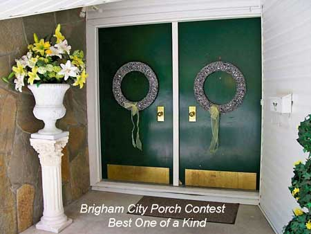 Brigham City Utah Porch Contest Best One of a Kind