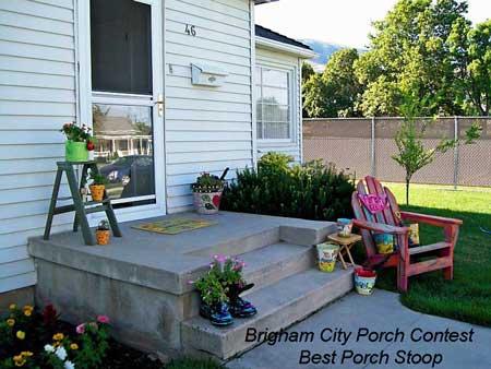 Brigham City Utah Porch Contest Best Porch Stoop