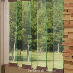 straight glass balusters