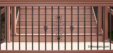 Beautiful Intricate Patterns On Aluminum Porch Railing
