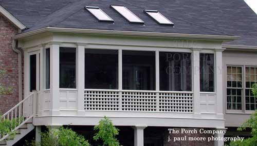 lattice style wood deck railings