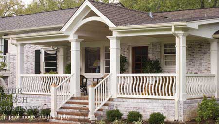 wood porch railings