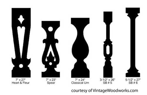 Sawn Balusters Porch Railings Wood Deck Railings