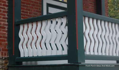 sawn pickets - wavy design - quite awesome!