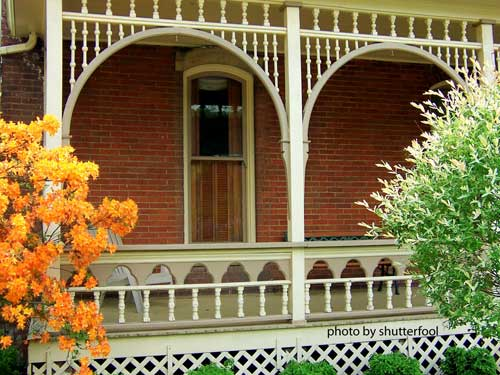 Turned porch balusters