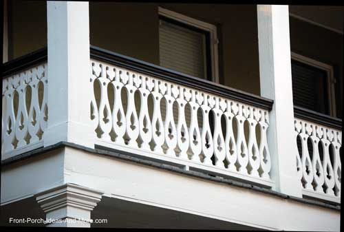 intricate design on these balusters