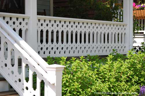 this baluster pattern takes you eyes to the holses created by the pattern