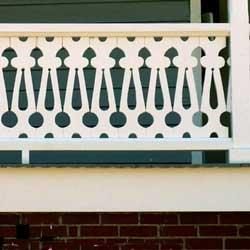 lattice panel with custom sawn baluster design