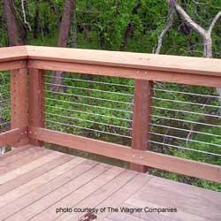 horizontal steel cable railings