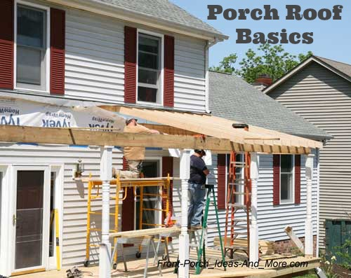 putting up a porch roof