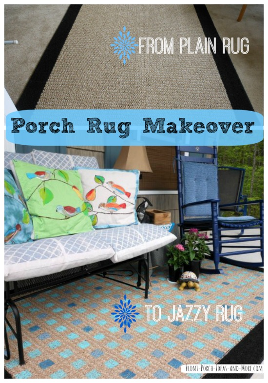 collage of porch rug pictures