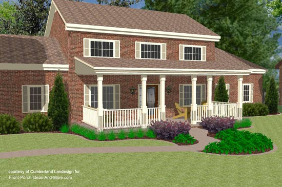 Porch roof designs front porch designs flat roof porch for Deck roof plans