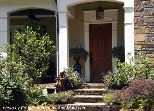 stone steps are ideal for front porches