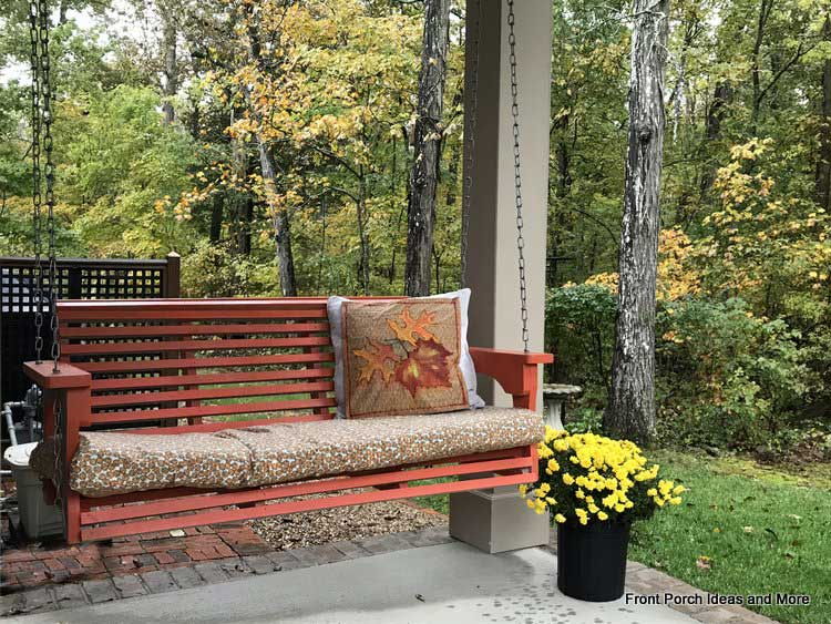 our autumn porch swing