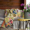 summer decorating idea - sweet peas and porch swing