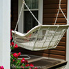 wicker front porch swing