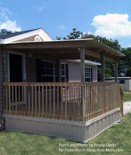 Porch designs for mobile homes mobile home porches for Pictures of porches on mobile homes