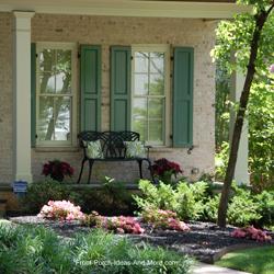 front porch landscaping scheme