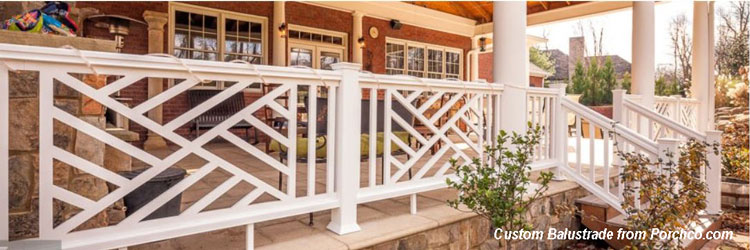 custom porch balustrade from Porchco.com
