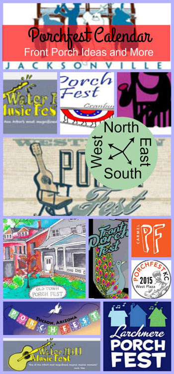 collage of porchfest logos