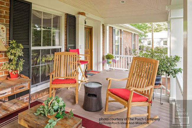 beautiful front porch built by The Porch Company